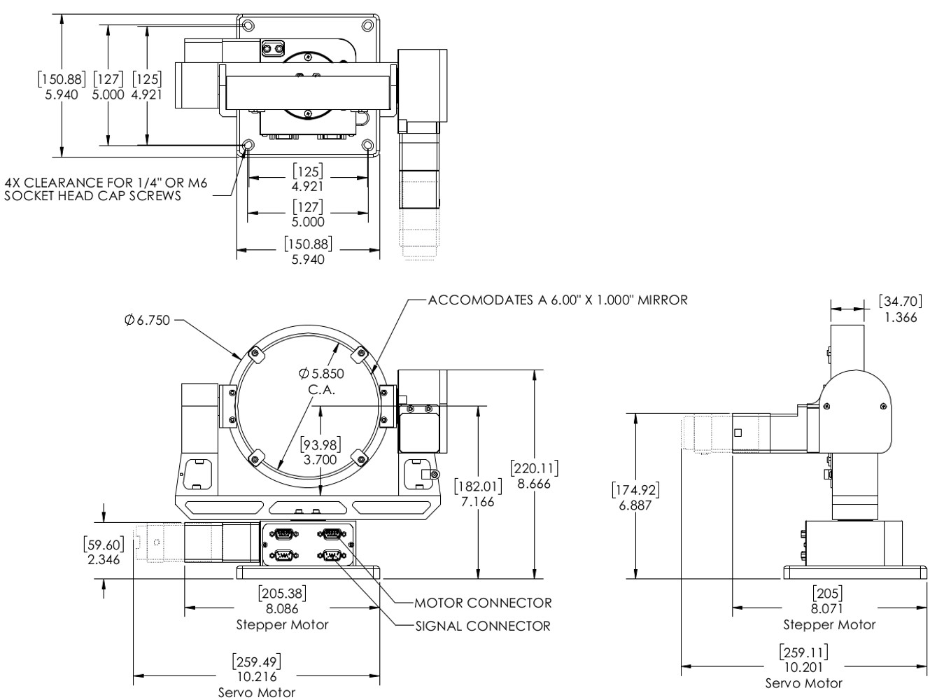 Gm 6 Gimbal additionally Nema 17 stepper motor 42byg020 moreover Ms24hs2p4300 000004611110015722 as well Stepper Motor NEMA 23 57x57mm together with Nema 23 stepping motor 57bygh317. on nema 8 stepper motor dimensions