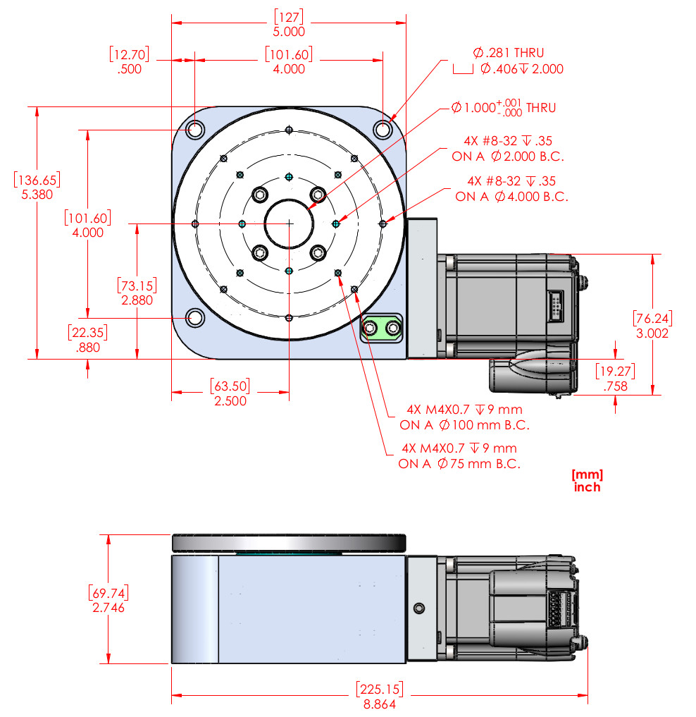 Rm 5 Motorized Rotary Stage