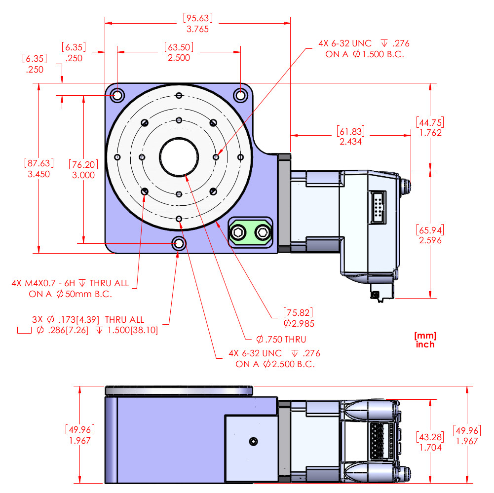 Rt 3 Motorized Rotary Positioner Rotary Stage