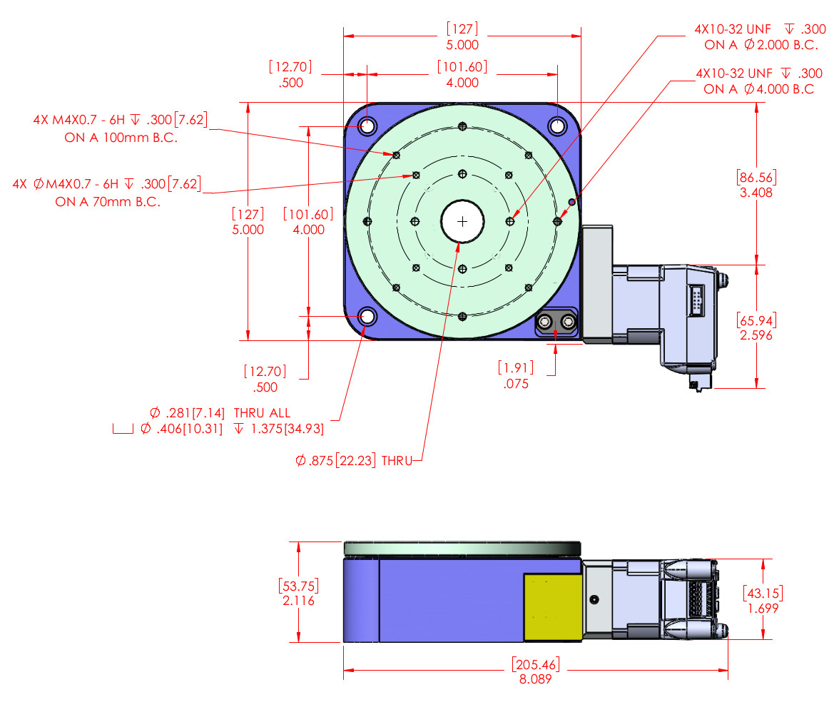Rt 5 Rotary Stage Motorized Rotary Positioner