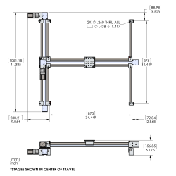 eBelt 700mm XY Gantry Assembly