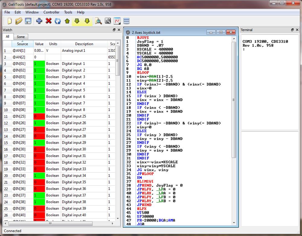Stepper motor software for Stepper motor control software